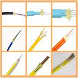 Câble fibre optique d'intérieur mis en mémoire tampon serré à plusieurs noyaux uni-mode de distribution