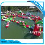 Het opblaasbare Park van het Water, Drijvend Park Aqua voor Volwassene op Verkoop met 0.9mm het Materiaal van pvc