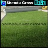 30mm景色のための緑Straight+Greenのカールヤーンの総合的な草
