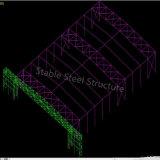 Пакгауз ангара стальной структуры с большой пядью