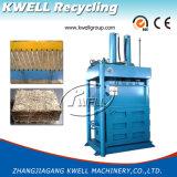 Pressa per balle verticale della fibra della palma/pressa per balle idraulica della fibra di noce di cocco/macchina d'imballaggio fibra del cotone