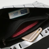 Matte Zilveren Verwijderbare Riem Pu Dame Handbag (A0109)