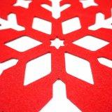 3mm及び5mmの雪片の形卓上のための100%年のポリエステルPlacemat