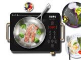 De draagbare Controle van de Knop + Kooktoestel van de Haardplaat van het Lichaam van het Metaal het Ceramische met Handvat sm-Dt212