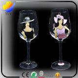 Изготовления продавая покрашенный вручную кубок стекла Шампань цвета