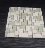Natural de mármol blanco cristalino mezcla de baldosas de piedra Mosaico de cristal