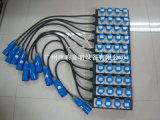 Cuerda de extensión la monofásico de 4 canales