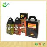 Kundenspezifische Wein-Kästen mit Griff-Wein-Paket (CKT-CB-807)