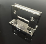 Bride en verre plate d'acier inoxydable de miroir charnière convenable de porte de douche de 90 degrés