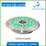 Lumière sous-marine de syndicat de prix ferme de fontaine d'IP68 36W RVB DEL, éclairage LED pour la fontaine