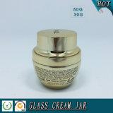 50g 30gの金の電気めっきのガラス装飾的な瓶