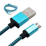 Foudre colorée /Micro /USB - câble de remplissage de caractéristiques de C pour la vente en gros