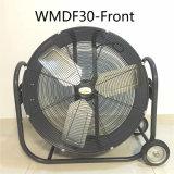 Ventilador de tambor, ventilador de pedestal, ventilador de alta velocidade para oficina, pátio, porão, armazém, fábrica, fábrica de mineração, garagem etc.
