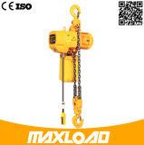 0.5t que levanta el alzamiento de cadena eléctrico con el gancho de leva