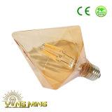 Filamento do diodo emissor de luz do bulbo 3.5With6.5W do diamante que escurece claramente/bulbo E27 de vidro de Goldden