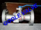 Valvola a sfera spaccata manovrata mediante ingranaggi della porta standard del corpo dell'acciaio di getto (116)