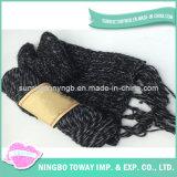 Écharpe chaude de crochet de coton de polyester de créateur de qualité