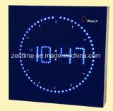 Цветастые часы стены СИД в квадратной форме для домашнего украшения