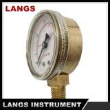 真鍮の内部の057 50mmの酸素の使用の圧力計