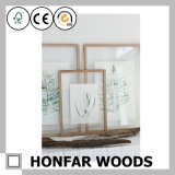装飾のための簡易性様式の長方形の葉の標本の写真フレーム