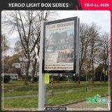 Lampe Pôle de meubles de rue annonçant les signes solaires d'éclairage de Lightbox DEL