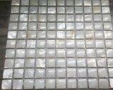 Mosaico blanco puro del cuadrado de la cara del arco del shell de agua dulce