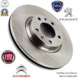 Disque automobile de frein de pièces de rechange pour Citroen/FIAT/Lancia/Peugeot