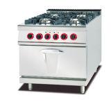Intervallo di buona qualità del gas 4-Burner con il forno di gas per Restaruant
