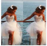 2016 comprimentos traseiros longos dianteiros curtos novos Alsw1705 do joelho do vestido de casamento