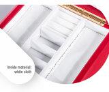 カスタマイズされたレトロの贅沢で赤い革木のギフトの箱