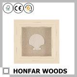 Bâti de cadre en bois brun clair d'ombre pour la décoration de mur