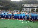 거대한 강철 프레임 직사각형 모양 프레임 재미 수영풀