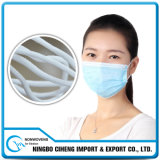 Corda elástica redonda branca de borracha barata para máscaraes protetoras descartáveis