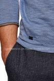 方法人の長い袖のリネン綿の上