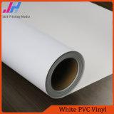 Vinyle lustré d'intérieur de PVC de blanc du matériel publicitaire