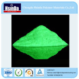 Fulgor verde de confiança seguro do pigmento no revestimento escuro do pó