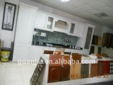 Gabinetes de armazenamento da cozinha da superfície da melamina do MDF