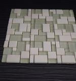 자연적인 수정같은 백색 대리석 돌 혼합 유리제 모자이크 타일