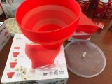 Bacia plástica Micrôonda-Segura da pipoca do recipiente da pipoca do silicone da platina