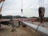 mât élevé Pôle de 35m avec les HP 2000W dans le terrain de football