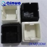 Schwarzes Quadrat-Möbel-Füße und Edelstahl-Rohr-Plastikstecker