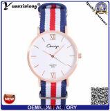 Muñeca suiza de señora reloj de la buena calidad de Movt del nilón del reloj del asunto de los hombres Yxl-482 de la OTAN del deporte rayado multicolor de la correa