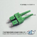 Connecteur duplex de fibre optique de Sc 2.0mm de PE avec l'embout