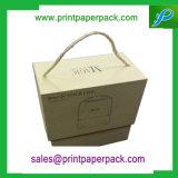 Kundenspezifischer zweiteiliger steifer Sammelpack-Geschenk-Papierkasten-Schmucksache-Kasten mit Zeichenkette-Griff