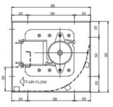 Querfluss-Ventilator Input Wechselstrom-220V für BGA
