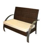 Rota determinada de los muebles del patio del jardín del vector de las sillas del ocio que teje que cena el vector y la silla del café