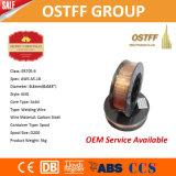 "0.6mm (0.023 ""スムーズな安定したアーク、低いはねが付いている) Er70s-6中国ミグ溶接ワイヤー"
