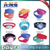 Sporting Racing PVC jetable Durable Soft RFID Silicone Wristband