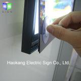 Тонкая алюминиевая магнитная коробка рамки СИД светлая с знаком рекламировать плаката киноего размера A0 освещенным контржурным светом