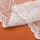 Form-Allover Blumen-Polyester-wasserlösliche Entwerfer-Spitze im Weiß